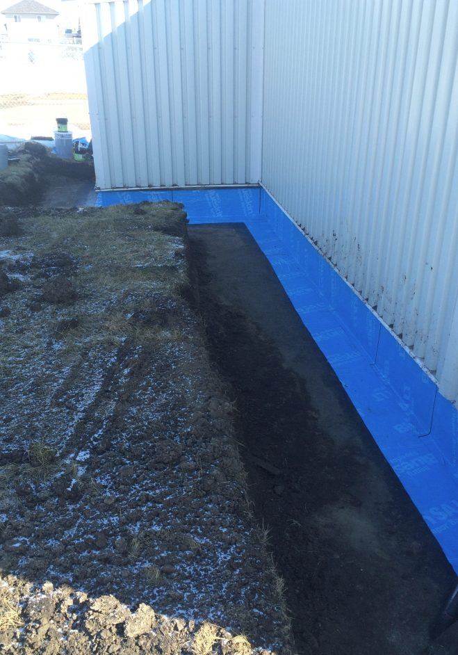 Below grade waterproofing foundation